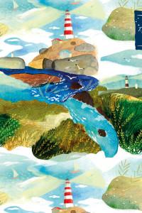 Блокнот для художественных идей. Маяк, от дизайнера Карины Кино (твёрдый переплёт, 96 стр., 240х200 мм)