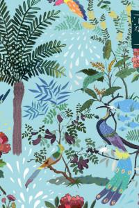 Блокнот для художественных идей. Павлины, от дизайнера Карины Кино (твёрдый переплёт, 96 стр., 240х200 мм)